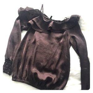Benetton asymmetric blouse
